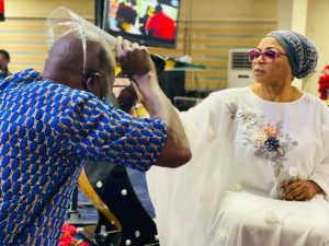 4bde9b993217690b54ab4e1664a93d67 1 300x225 - Richest Woman In Nigeria,Folorunso Alakija Caught Anointing Her Church Members