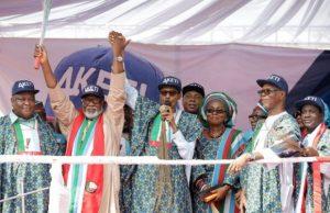 Akeredolu Buhari 300x194 - President Buhari Reveals Winner of Ondo Governorship Election