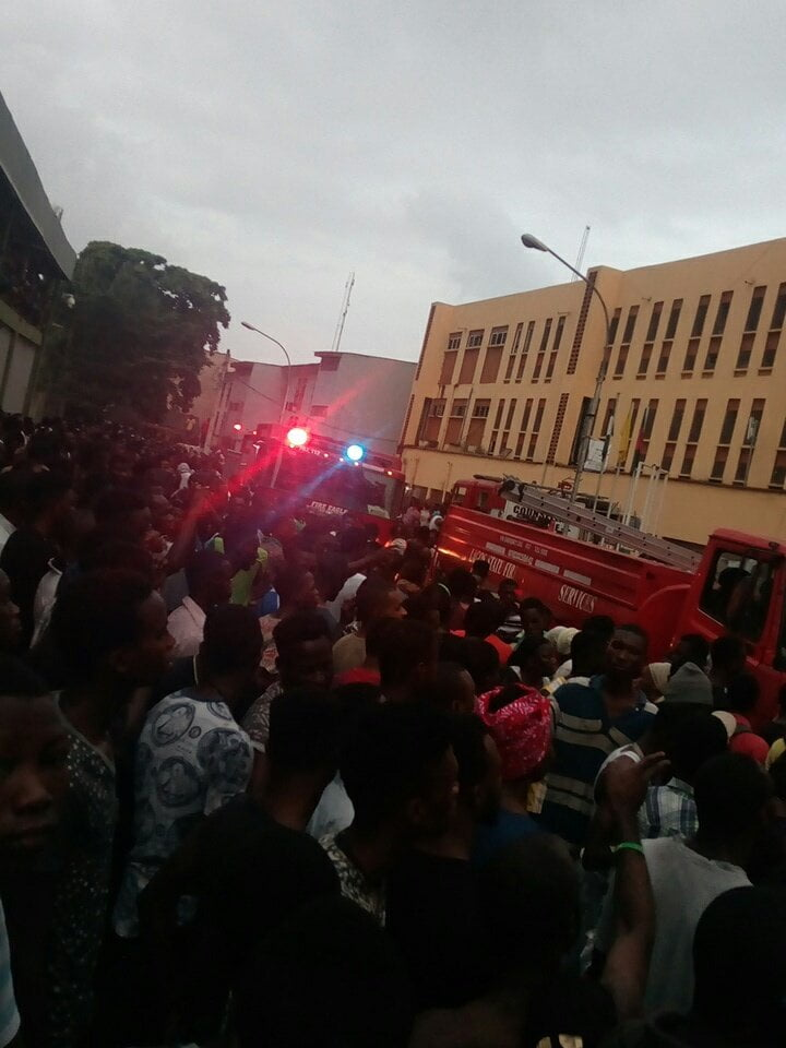The hostel burst into heavy flames this morning.