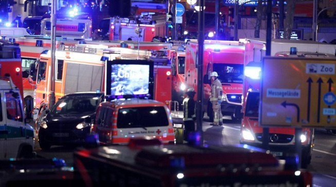 The aftermath this morning following the Berlin terror attack
