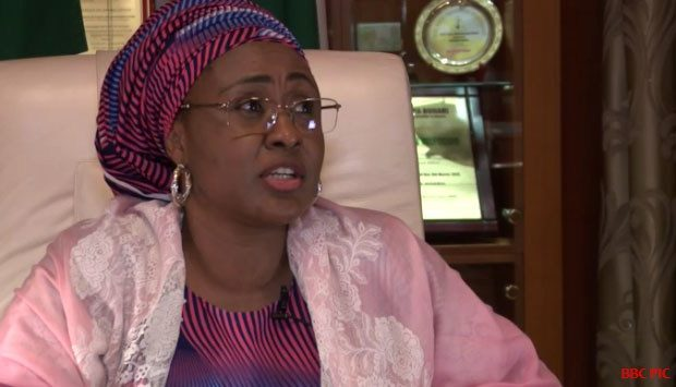 Nigeria first lady Aisha Buhari warns off 'hyenas' on Facebook