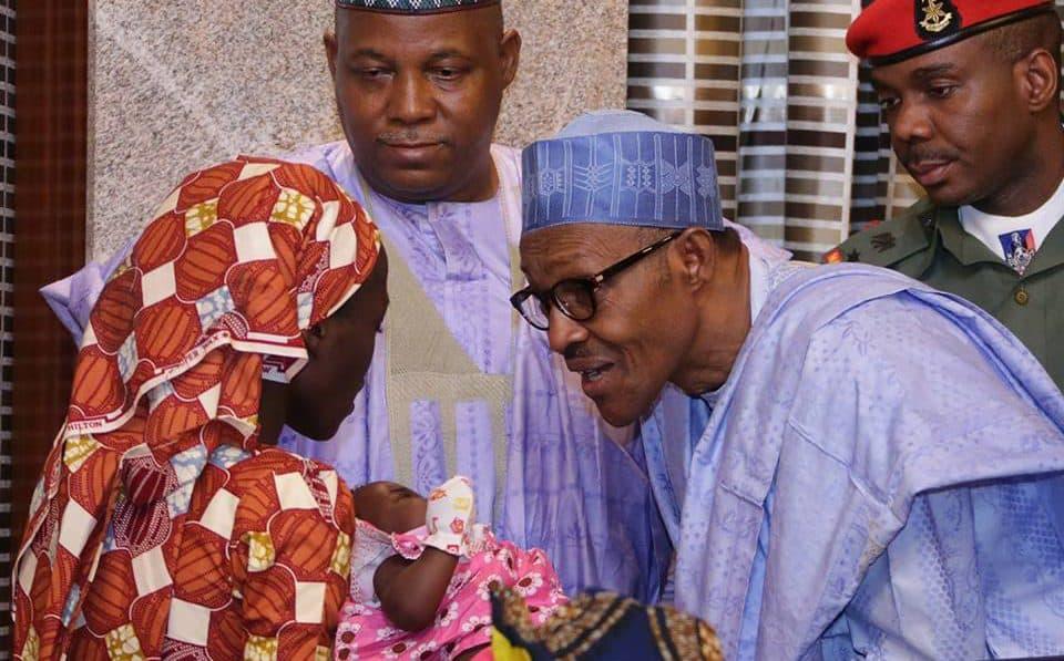 President Muhammadu Buhari meets with released Chibok girls