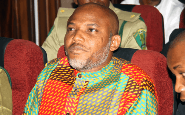 Nnamdi Kanu during a court session