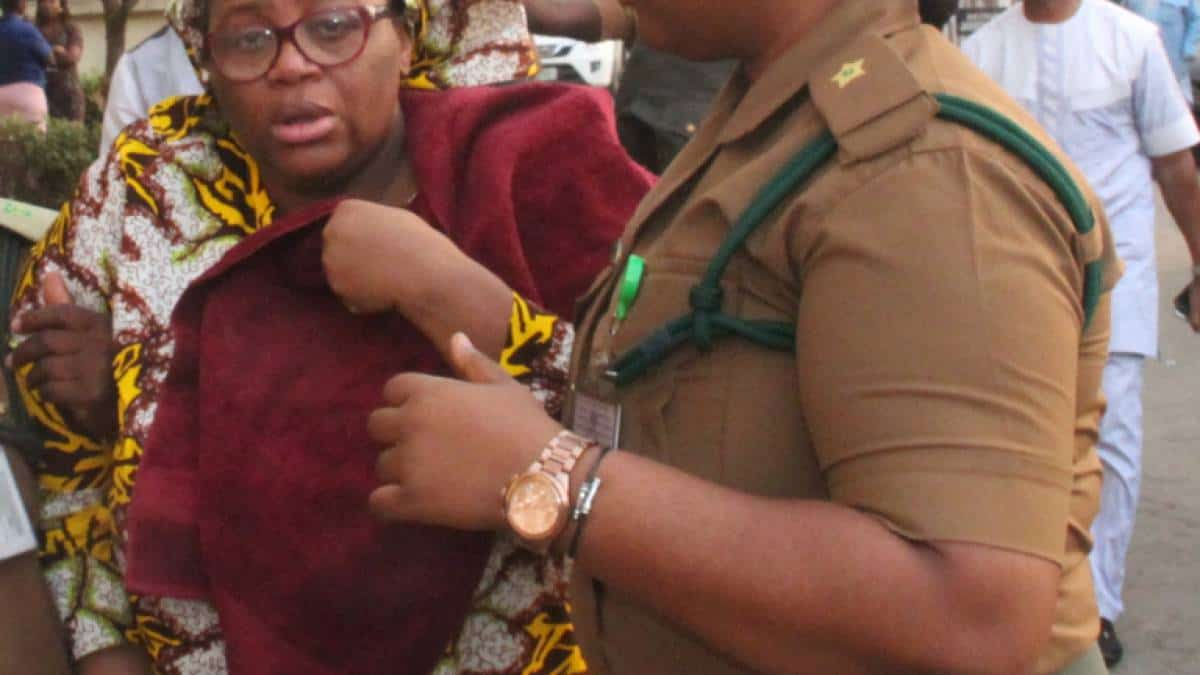 Ada Ugo-Ngadi weeping uncontrollably after she was sentenced to 10 years in prison for fraud