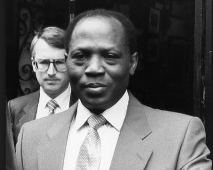 Umaru Dikko appearing in court in 1984 after the failed kidnap