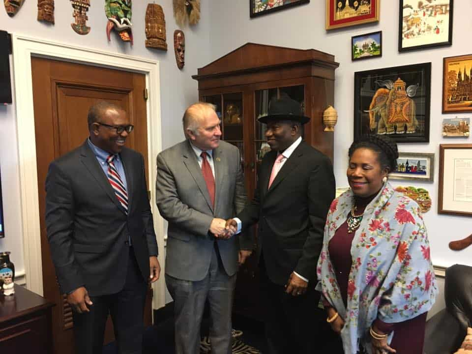 Goodluck Jonathan Meets U.S. Lawmakers; Speaks On Nigerian issues