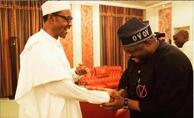 President Buhari and his London vistors by Dele Momodu