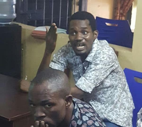 Arrested Seun Egbegbe in Police Station