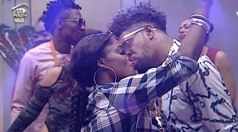 Thin Tall Tony and Bisola kissing