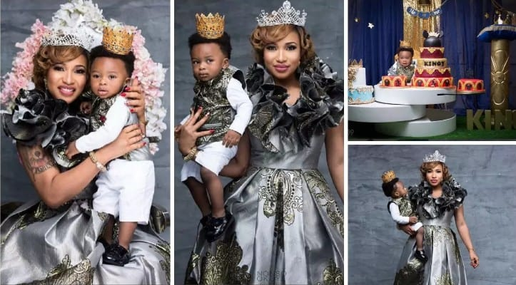 Tonto Dikeh's son Andre turns one today