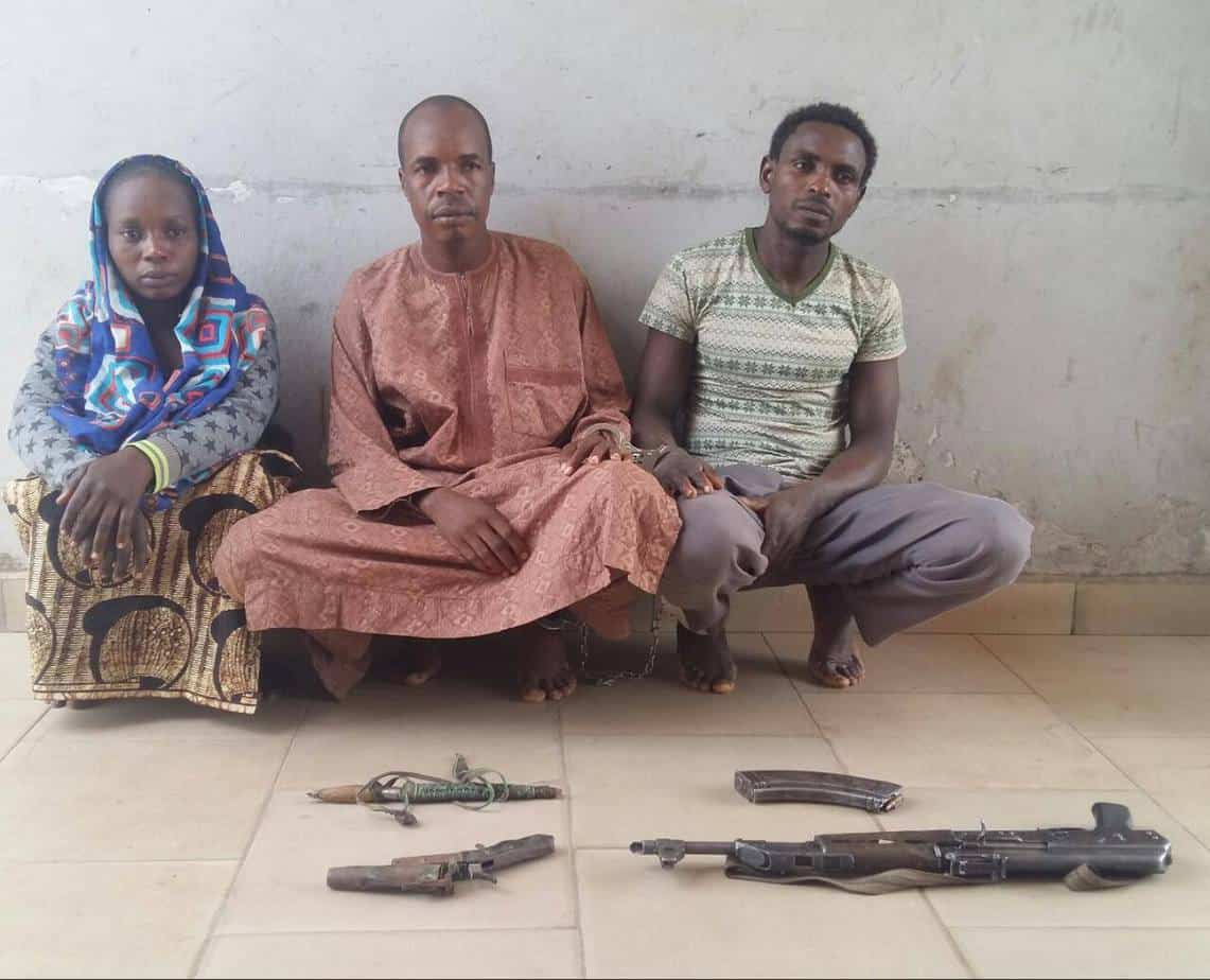 Female kidnappers and her gang members arrested by police