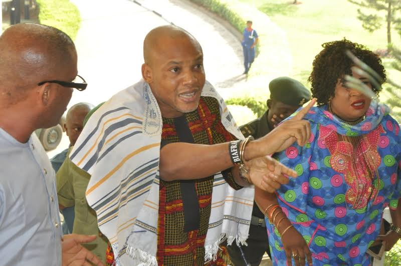 Kanu in court3 - Nnamdi Kanu To Expose Fulani Cabal, Nigeria Police, Judiciary (See Time, How To Listen)