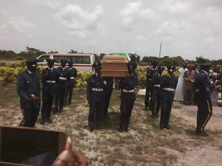 Air force officer killed by jealous lover is buried in Lagos