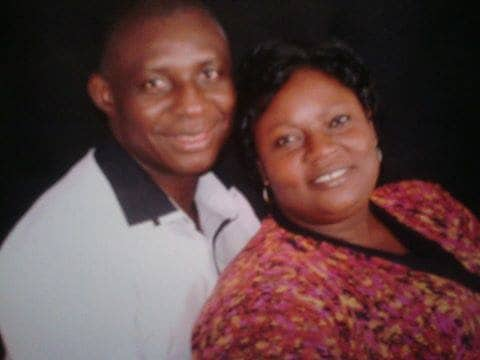 Pastor Frederick Ikyaan(left) with his wife: Admits the tithe was paid