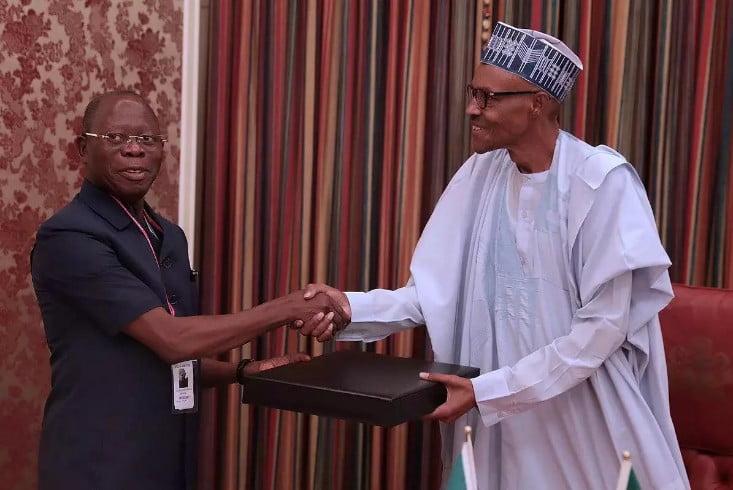 Oshiomhole visits Buhari at Aso Rock