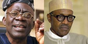 Buhari Falana 300x150 - Falana Drags FG, El-Rufai Govt To African Commission Over Death Sentence On Kano Singer