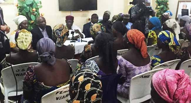 President Buhari describes the releases of 82 Chibok girls as democracy gift