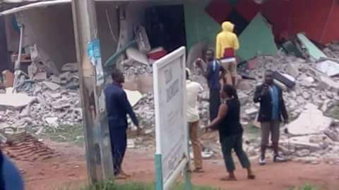Demolished For Announcing Workers Want To Go On Strike.. - Breaking: Government Destroys AIT's Buildings In Abuja