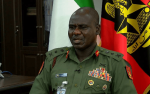 Tukur Buratai 2 300x188 - #EndSARS: Full Details Of What Buratai Discussed With Top Military Officers Emerge