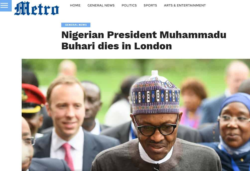Presidency dismisses death rumour, says nothing unpleasant happened to Buhari