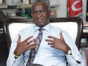 Fashola 300x225 - FG Announces Date For Reopening Eko Bridge, Marine Bridge