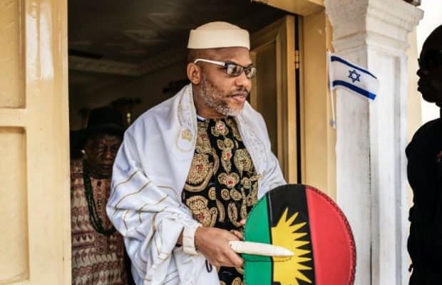 Nnamdi Kanu 1 620x400 1 - Biafra: Nnamdi Kanu Appreciates Chief Rabbi Of Munich For Hosting IPOB