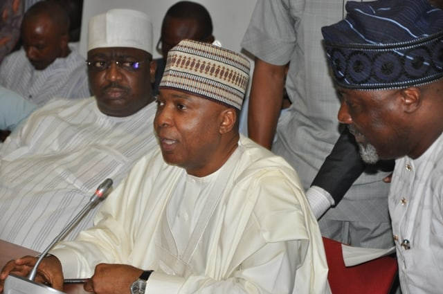 Saraki Exposes Those Behind Protest At National Assembly