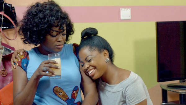 Juliana Olayode and Funke Akindele on set of Jenifa's Diary