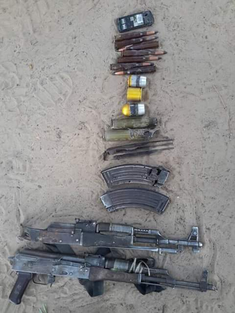 Weapons Recovered From The Boko Haram Terrorist