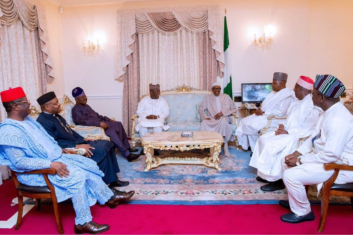 BUhari and governors1 - See Amount FG, States, LGs Shared For March Allocation