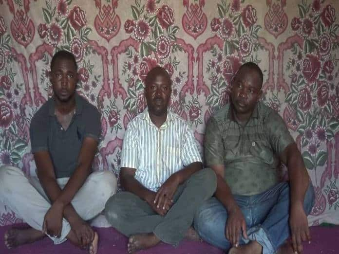 The three abducted by Boko Haran during the ambush. L-R: Yusuf Ibrahim, Dr Solomon M. Yusuf and Haruna Dashe (their driver).Photo:Saharareporters