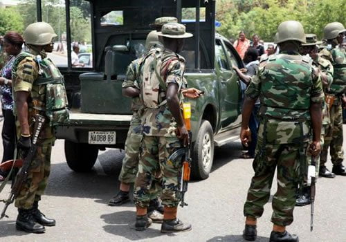 Two Robbers Killed By Army In Ibadan