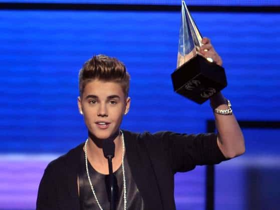 American Music Awards 2012 names Justin Bieber artist of the year  - Justin Bieber Reacts To Morgan Steward's Comment About His Coachella Performance