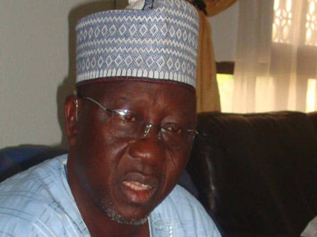 Internally Displaced Persons Stone Governor Al-Makura's Convoy