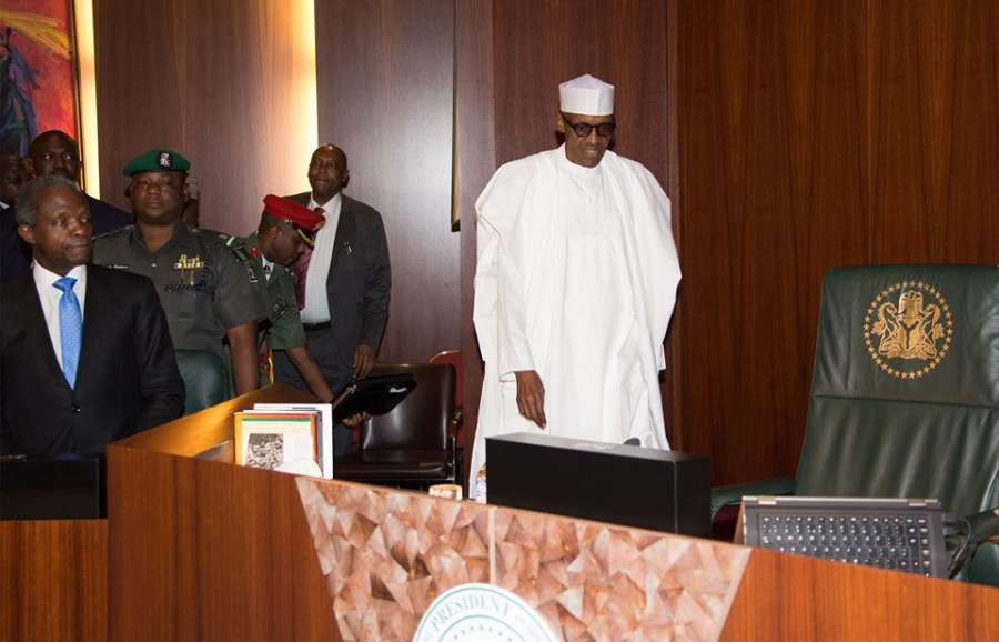 Buhari FEC TVCNews - FG Speaks On Plan To Dissolve Buhari's Cabinet