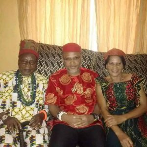 nnamdi kanu with his parents 300x300 - Biafra: The Two Choices Before Nnamdi Kanu Ahead Of Parents' Burial