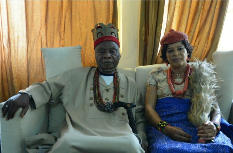 Eze Israel Kanu and his wife