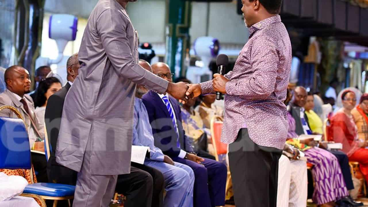 George Weah Attends TB Joshua'S Church Service | Nigeria News