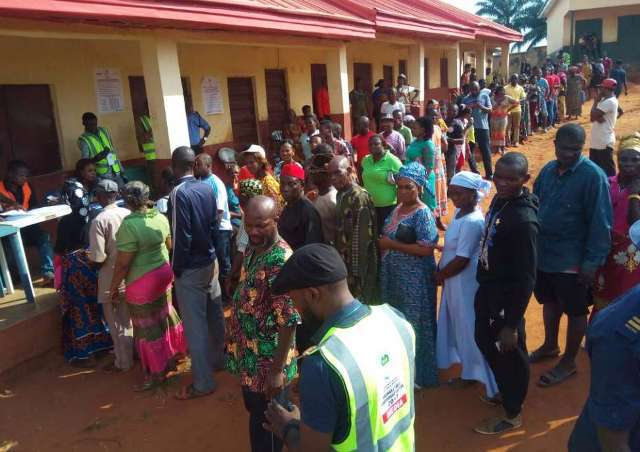 Voters turned out in good number in Otuocha, ward 1, Eri, Anambra East LGA.