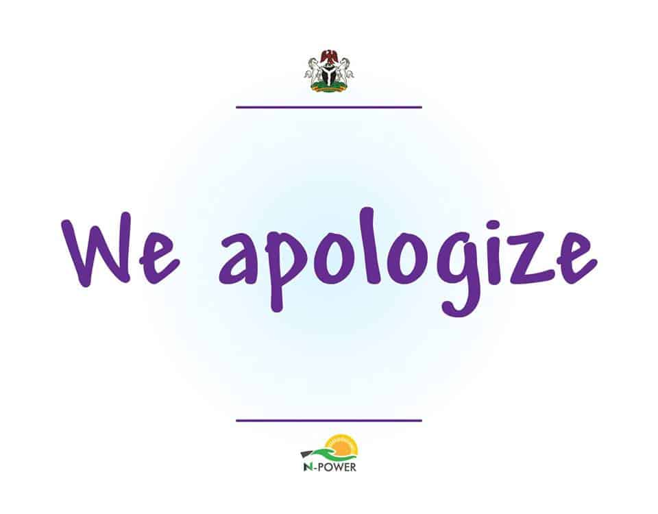 N-power Apologize For October Salary Delay | Nigeria News