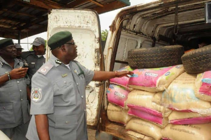 Nigerian Customs Seizes Bags Of Rice, Vegetable Oil Worth Millions
