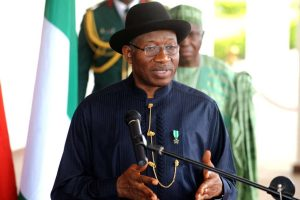 Jonathan press briefing 300x200 - Nobody's Ambition Is Worth Any Citizens Blood – Jonathan