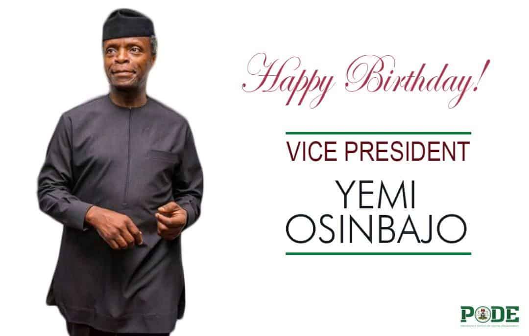 Buhari Salutes Osinbajo At 61, Thanks Him For Being Loyal, Dependable Partner