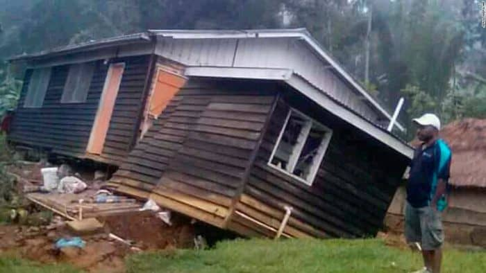 Big natural disaster  strikes Papua New Guinea