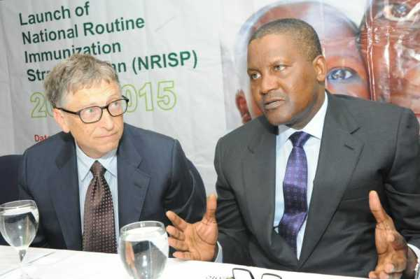 gates dangote e1453392823577 - What I Admire Most About Dangote – Bill Gates