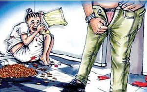 rape toon 300x189 - Pastor Arrested For Raping Teenager For The Second Time