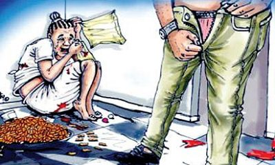 Girl raped by step-father