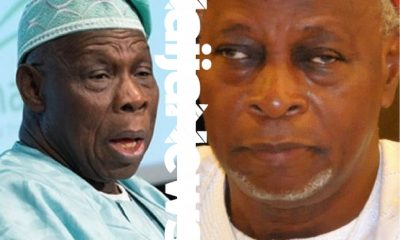 Chief Olusegun Obasanjo and Chief Olu Falae in secret political meeting