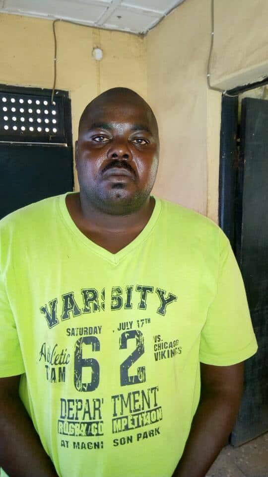 Arrested Suspect, Bwesse H. Tanimu