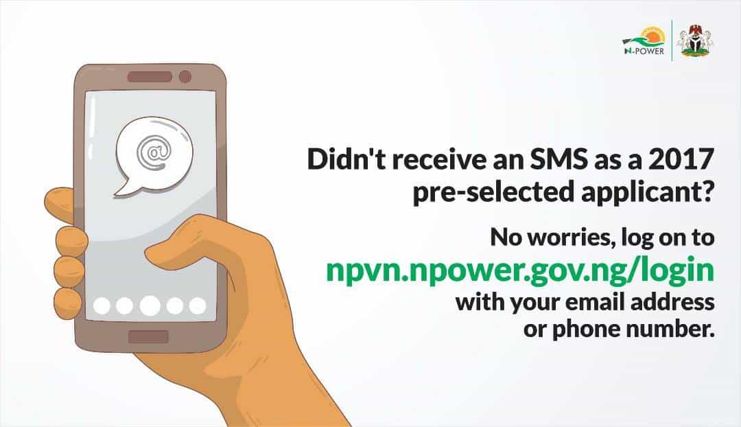 N-Power addresses applicants yet to receive SMS